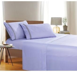 Elegant Comfort Holiday Gift 4 PC Sheet set Bedding Set Queen Aqua Blue