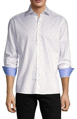 Bertigo Geometric-Print Cotton Shirt