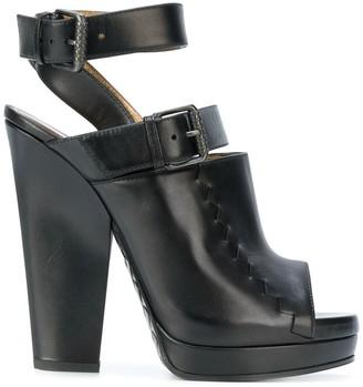 Bottega Veneta chunky heel buckle strap sandals