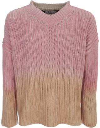 Jacquemus Cotton Sweater L/s V Neck