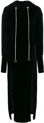 Almaz Open Back Hoodie Dress