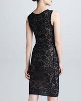Zac Posen Sleeveless Lace V-Neck Dress