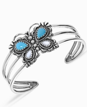 American West Butterfly Cuff Bracelet in Sterling Silver