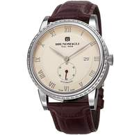 Bruno Magli Men's Ottanta Limited Edition Swiss Made Automatic Watch with Italian Bordeaux Leather Strap