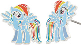 My Little Pony Rainbow Dash Silvertone Stud Earrings