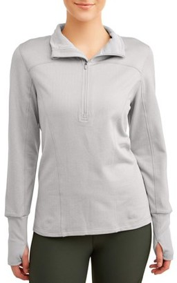 Athletic Works Women's Active Performance Brushed Quarter Zip Pullover