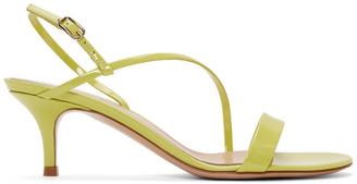 Gianvito Rossi Yellow Patent Manhattan Strappy Sandals