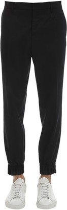 Moschino Wool Formal Pants W/ Embroidered Detail