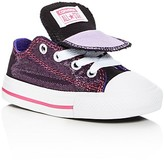 Converse Girls' Chuck Taylor All Star Shimmer Double Tongue Lace Up Sneakers - Walker