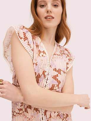 Kate Spade Exotic Bloom Burnout Top