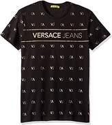 Versace Men's Gold Printed Logo T-Shirt