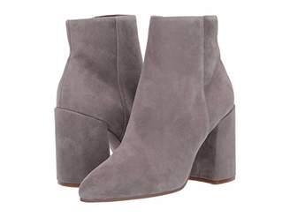 Steve Madden Therese Block Heel Bootie (Light Grey Suede) Women's Shoes