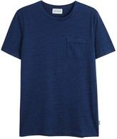 Oliver Spencer Envelope Dark Blue Cotton T-shirt