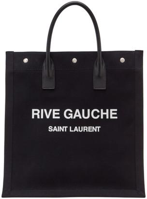 Saint Laurent Black Rive Gauche Shopping Tote