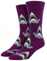 "Socksmith Men's Novelty Crew Socks ""Shark Attack"""