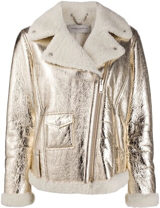 Golden Goose Assia leather biker jacket