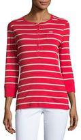 Lauren Ralph Lauren Striped Henley Top