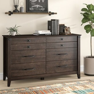 Chappel 6 Drawer Double Dresser Trent Austin Design Finish: Coffee Oak