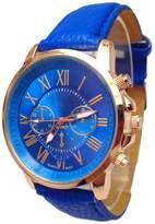 ABC Women's Watch, Women's Stylish Faux Leather Numerals Analog Quartz Watch Wrist Watch