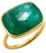 Amrapali 18K Yellow Gold & Emerald Ring