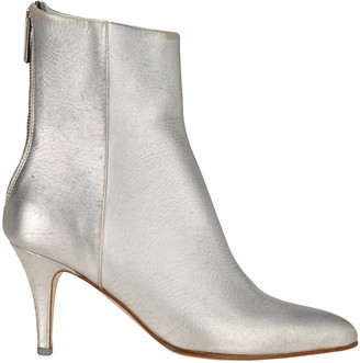 MM6 MAISON MARGIELA Pointed Toe Metallic Boots