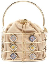 Rosantica Marsala Tile Cage Clutch - Womens - Gold Multi