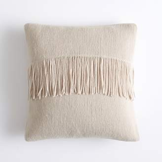 Pottery Barn Teen Chic Fringe Pillow Cover, 16x16, Vintage Ivory