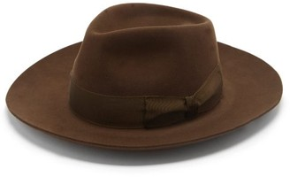 Lock & Co Hatters Stafford Escorial-wool Fedora - Brown