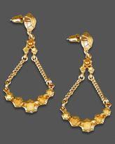 Earrings, Goldtone Chandelier