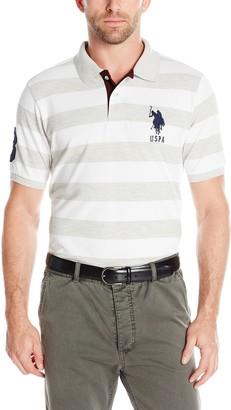 U.S. Polo Assn. Men's Striped Pique Polo