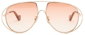 Loewe Aviator Metal Sunglasses - Light Pink