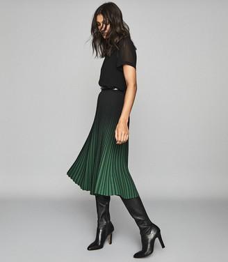 Reiss Verona - Sheer Layered Top in Black