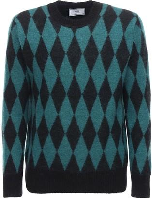 Ami Alexandre Mattiussi Diamond Mohair Blend Knit Sweater