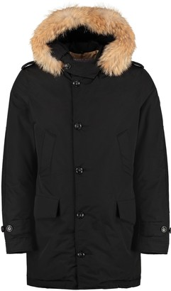 Woolrich Polar Parka With Fur Trimmed Hood