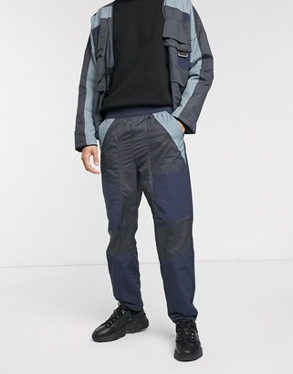 ASOS DESIGN co-ord relaxed trouser in nylon with cut & sew panels