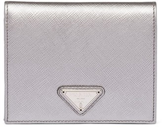 Prada logo plaque small wallet