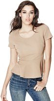 GUESS Ariel Short-Sleeve Peplum Top