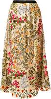 RED Valentino floral embroidered skirt