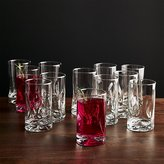 Crate & Barrel Impressions Juice Glasses, Set of 12