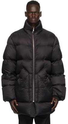 Rick Owens Black Down Duvet Coat