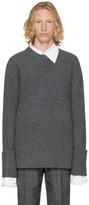 Wooyoungmi Grey Crewneck Sweater