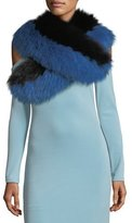 Alice + Olivia Oversized Fox-Fur Collar