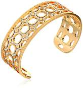"""Rebecca Seventies"""" 24k Gold with Glam Small Cuff Bracelet, 2.5"""""""