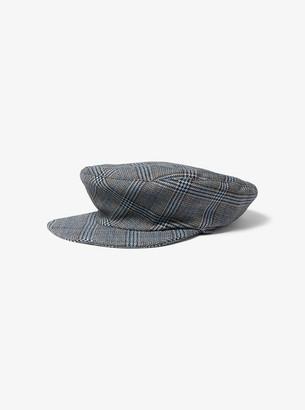 Glen Plaid Wool Newsboy Cap