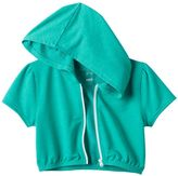 Soybu Girls 7-16 Zip-Front Crop Hoodie