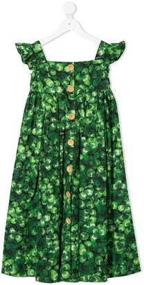 Dolce & Gabbana Clover Leaf printed dress