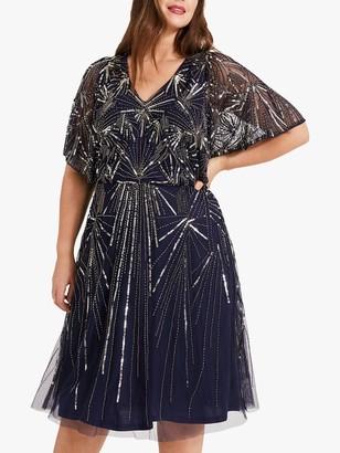 Studio 8 Zoe Beaded Dress, Navy