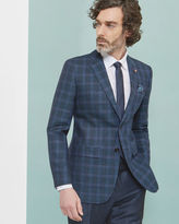 Ted Baker Checked wool and linenblend jacket