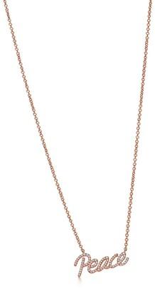 Tiffany & Co. Paloma's Graffiti peace pendant in 18k rose gold with diamonds, mini