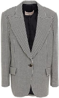 Alexandre Vauthier Houndstooth Cotton-blend Jacquard Blazer